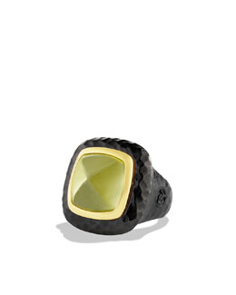 David Yurman Albion Ring with Lemon Citrine and Gold