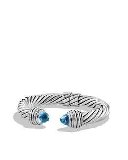 David Yurman Cable Classics Bracelet with Blue Topaz