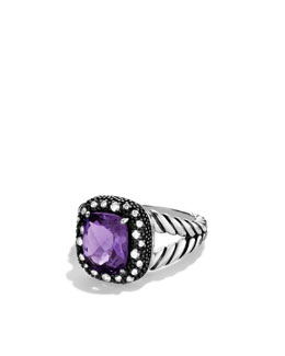 David Yurman Midnight Mélange Ring with Amethyst and Diamonds