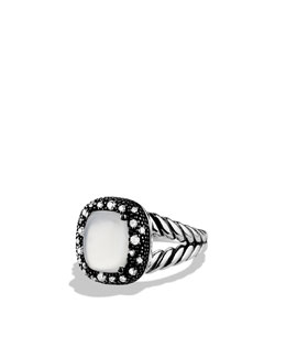 David Yurman Midnight Méange Ring with Moon Quartz and Diamonds