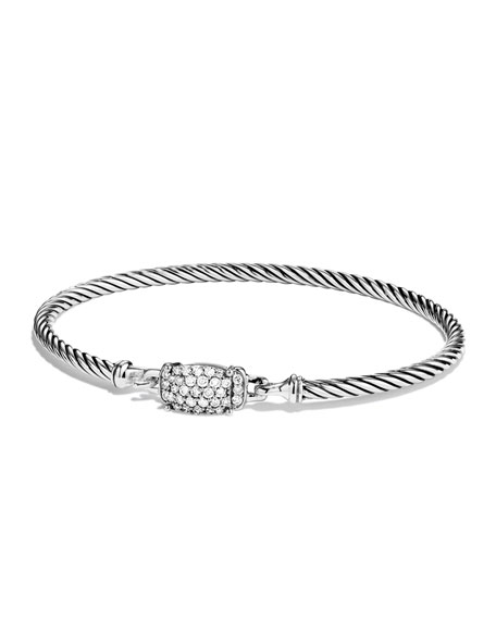 David Yurman Diamond Crossover & Petite Wheaton Bracelets.