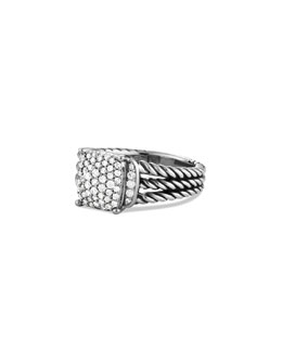 David Yurman Petite Wheaton Ring with Diamonds