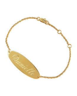 Jennifer Zeuner Personalized Gold Bracelet