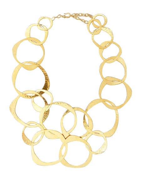 Circle-Link Bib Necklace