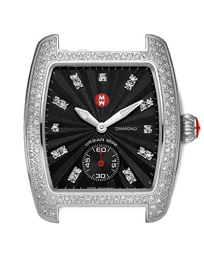 MICHELE Urban Mini Diamond Head, Stainless Steel