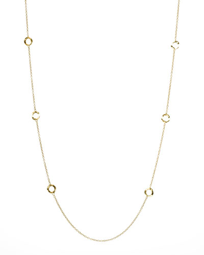 "Ippolita Gold Circle-Station Necklace, 40""L"