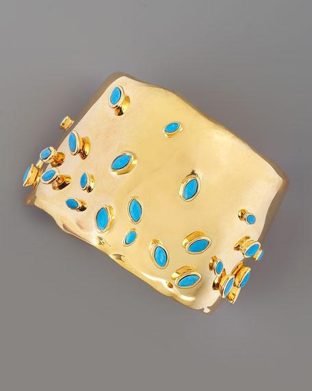 Gold Sputnik Cuff