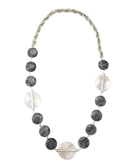 Multi-Stone Medallion Necklace