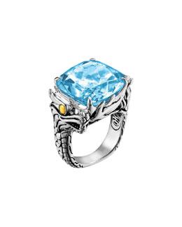 John Hardy Naga Batu Ring, Blue Topaz