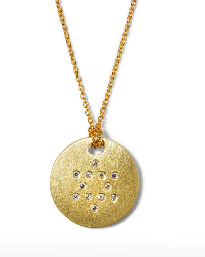 Roberto Coin Star of David Medallion Necklace