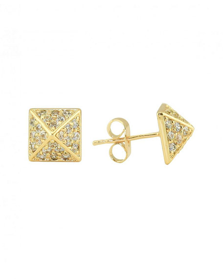 Crystal Pyramid Earrings (Stylist Pick!)