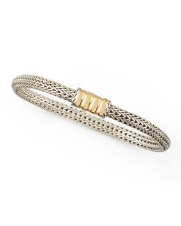 John Hardy Bedeg Gold-Station Bracelet, Extra Small