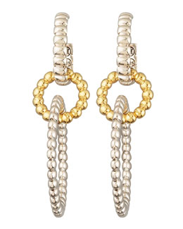 John Hardy Interlocking Hoop Drop Earrings