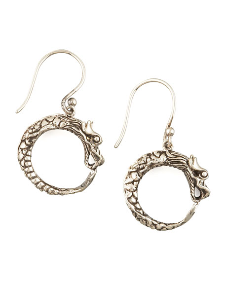 SMALL DRAGON HOOP EARRINGS