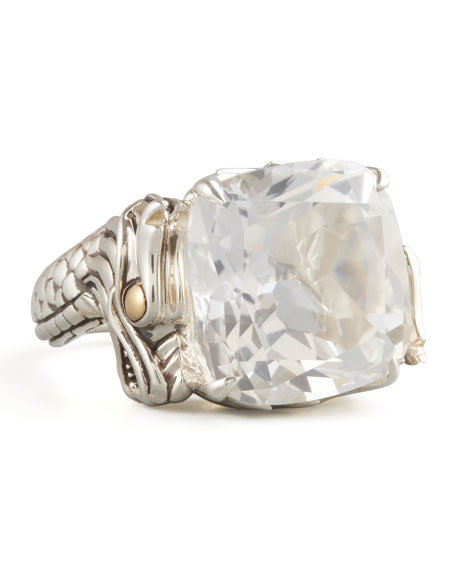 Naga Batu Ring, White Topaz