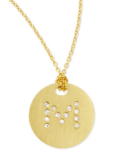 Roberto Coin Letter Medallion Necklace