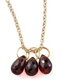Heather Moore Garnet Teardrop Charm