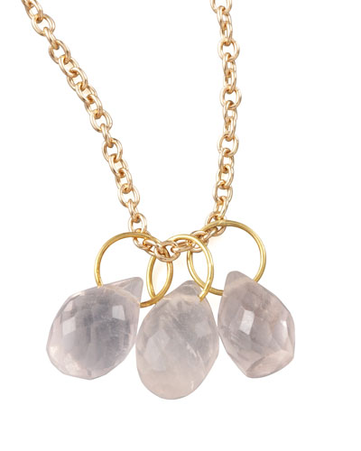 Heather Moore Rose Quartz Teardrop Charm