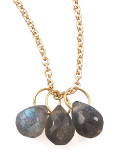 Heather Moore Labradorite Teardrop Charm