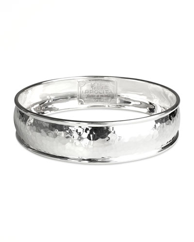 Ippolita Wide Hammered Silver Bangle