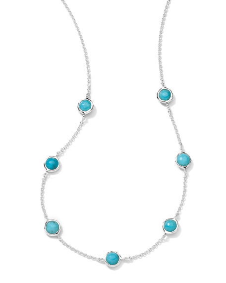 "Turquoise Station Necklace, 18""L"