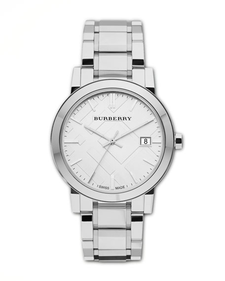 Burberry Polished Check Sunray Bracelet Watch