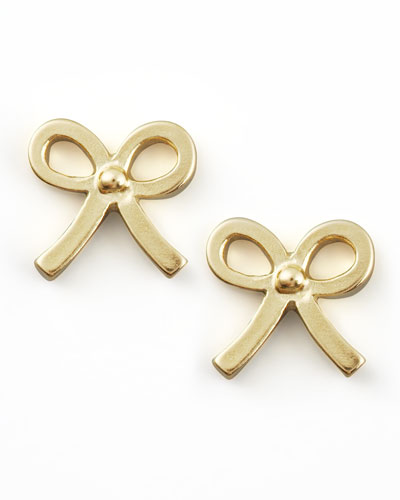 Dogeared Gold Bow Earrings