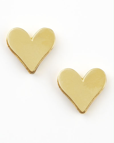 Dogeared Gold Heart Earrings