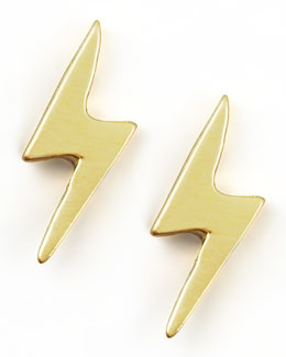 Dogeared Gold Lightning Earrings