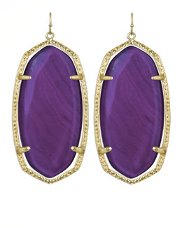 Kendra Scott Danielle Earrings, Purple Agate