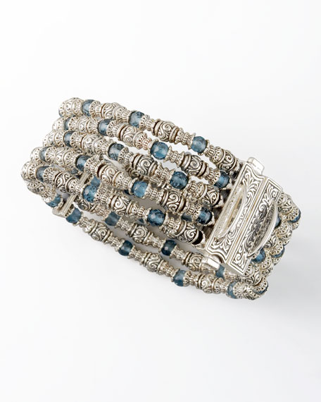 London Blue Topaz Beaded Bracelet