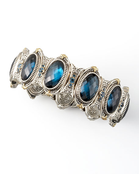 London Blue Topaz Station Bracelet