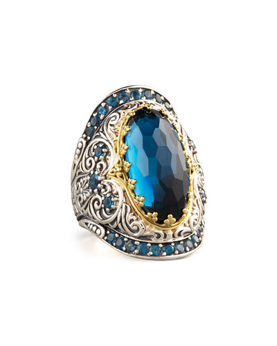 Konstantino London Blue Topaz Ring