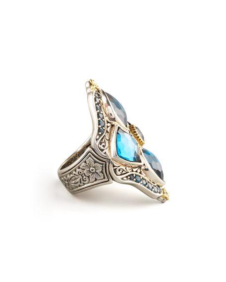 London Blue Topaz Figure-8 Ring