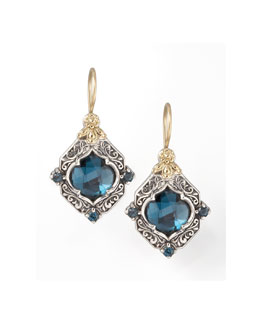 Konstantino London Blue Topaz Drop Earrings