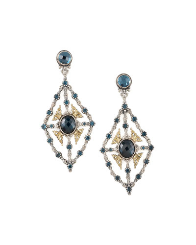 Konstantino London Blue Topaz Chandelier Earrings