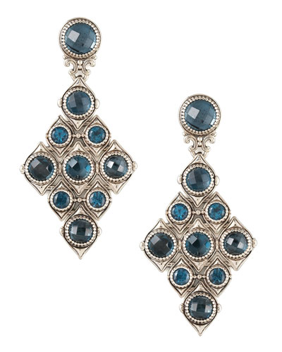 Konstantino London Blue Topaz Cascade Earrings