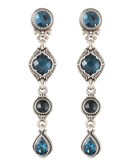 Four-Drop Dangle Earrings