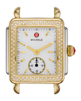 MICHELE Two-Tone Diamond Deco Watch Head