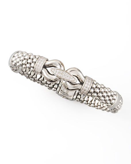Derby Pave Diamond Bracelet, 9mm