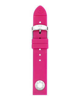 MICHELE 18mm Silicone Strap, Pink