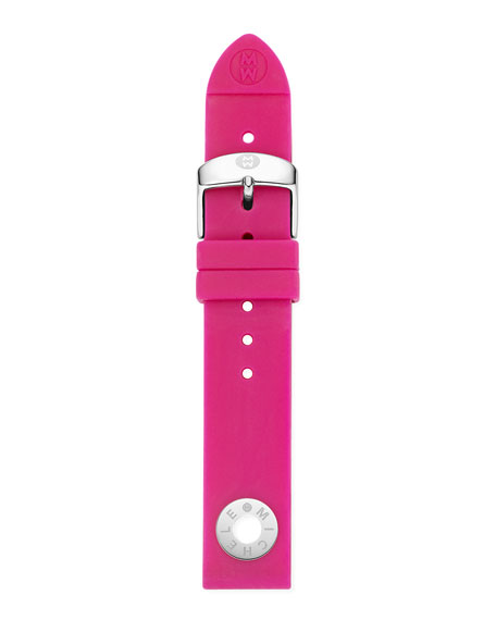 18MM HOT PINK SILICONE STRAP