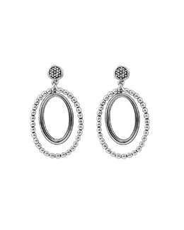 Lagos Caviar Oval Twist Earrings
