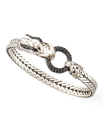 John Hardy Naga Head Bracelet, Black Sapphire