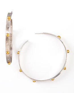 Devon Leigh Mixed-Metal Hoop Earrings