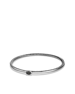 David Yurman Cable Inside Bangle with Black Diamonds