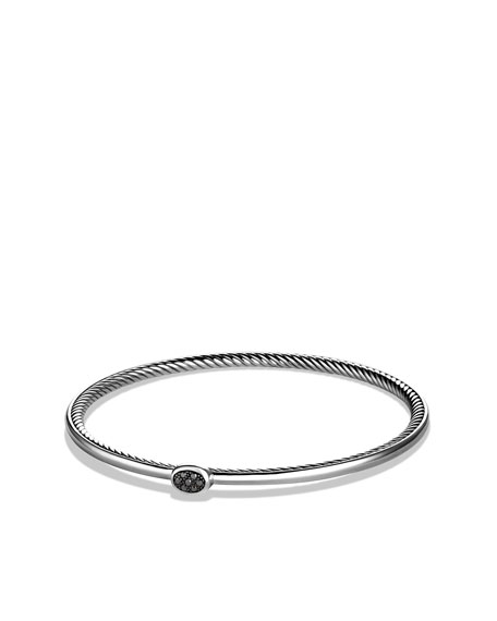 Cable Inside Bangle with Black Diamonds