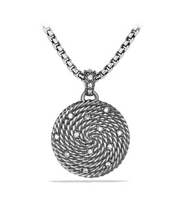 David Yurman Cable Coil Small Pendant with Diamonds