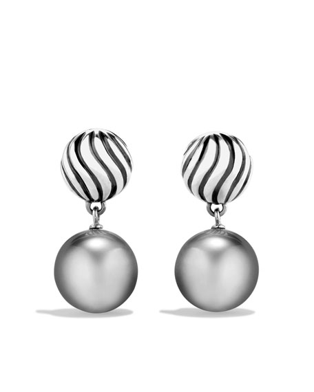 DY Elements Drop Earrings with Tahitian Pearls