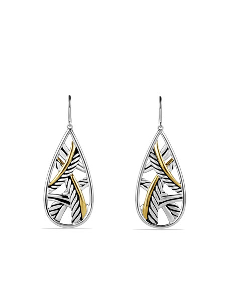 Papyrus Earrings with Gold